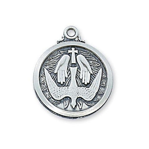 "Sterling Silver Holy Spirit 20"" Chain and Box (Style: L600HS)"