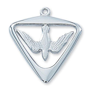 Sterling Silver Holy Spirit 24 Chain and Box (Style: L396)