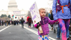 Aruku - little girl at feminist march thumbnail