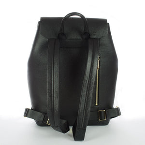 Aruku - Women's Leather Backpack Black
