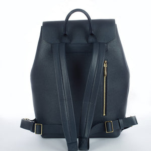 Aruku - Women's Leather Backpack Blue