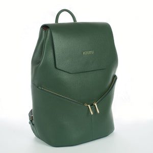 Aruku - Women's Leather Backpack Green