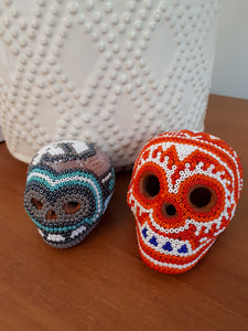 Huichol skulls to celebrate Day of the Dead