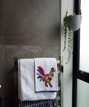 Rooster Hand Embroidered Towel
