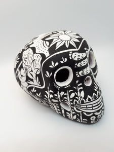 Pottery Hand Painted Skull