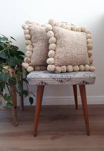 Square 30cm Pom Pom Cushion