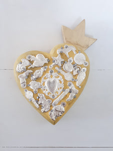 Milagros Heart with Crown