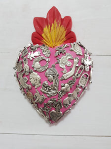 Milagros Heart - Small - Pink