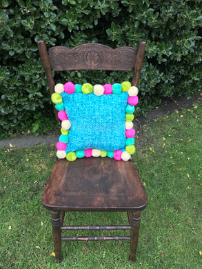 Square Pom Pom Wool  Cushion Cover