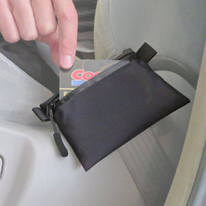 Seat Belt Stash Pouch