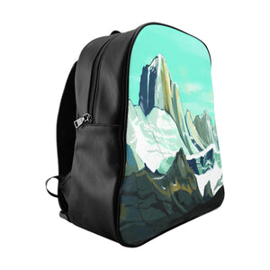 """Mountains"" School Backpack"