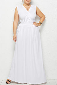 Plus Size Sleeveless Maxi Dress