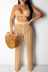 Crochet Hollow Out Two PC Sets