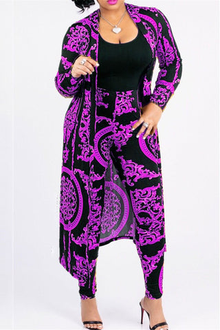 Size S Clearance Printed Coat&Pants Sets