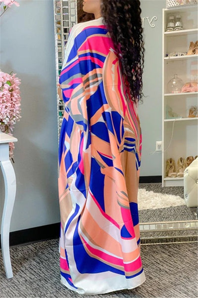 Printed Maxi Cover Up Top