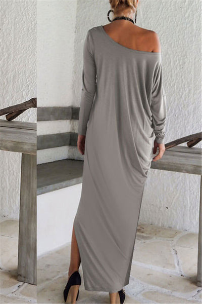 Split Leg One Shoulder Dress