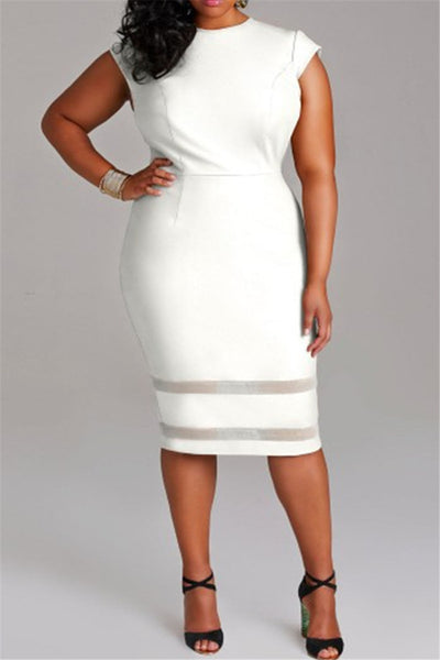 Plus Size Short Sleeve Dress