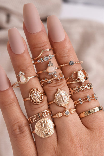 Trendy 15-piece Jewellery Ring