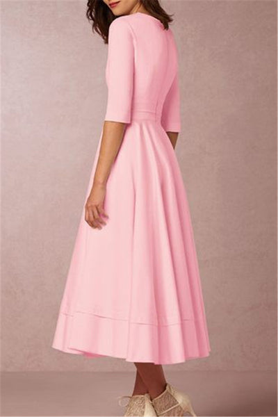 Deep V Flowy Maxi Dress