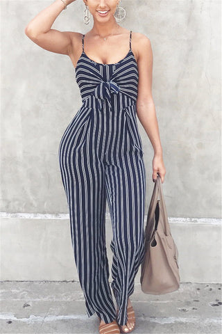 Printed Stripes Cami Jumpsuit
