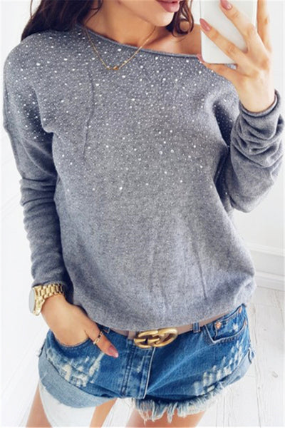 Shining Diamond Studded Top