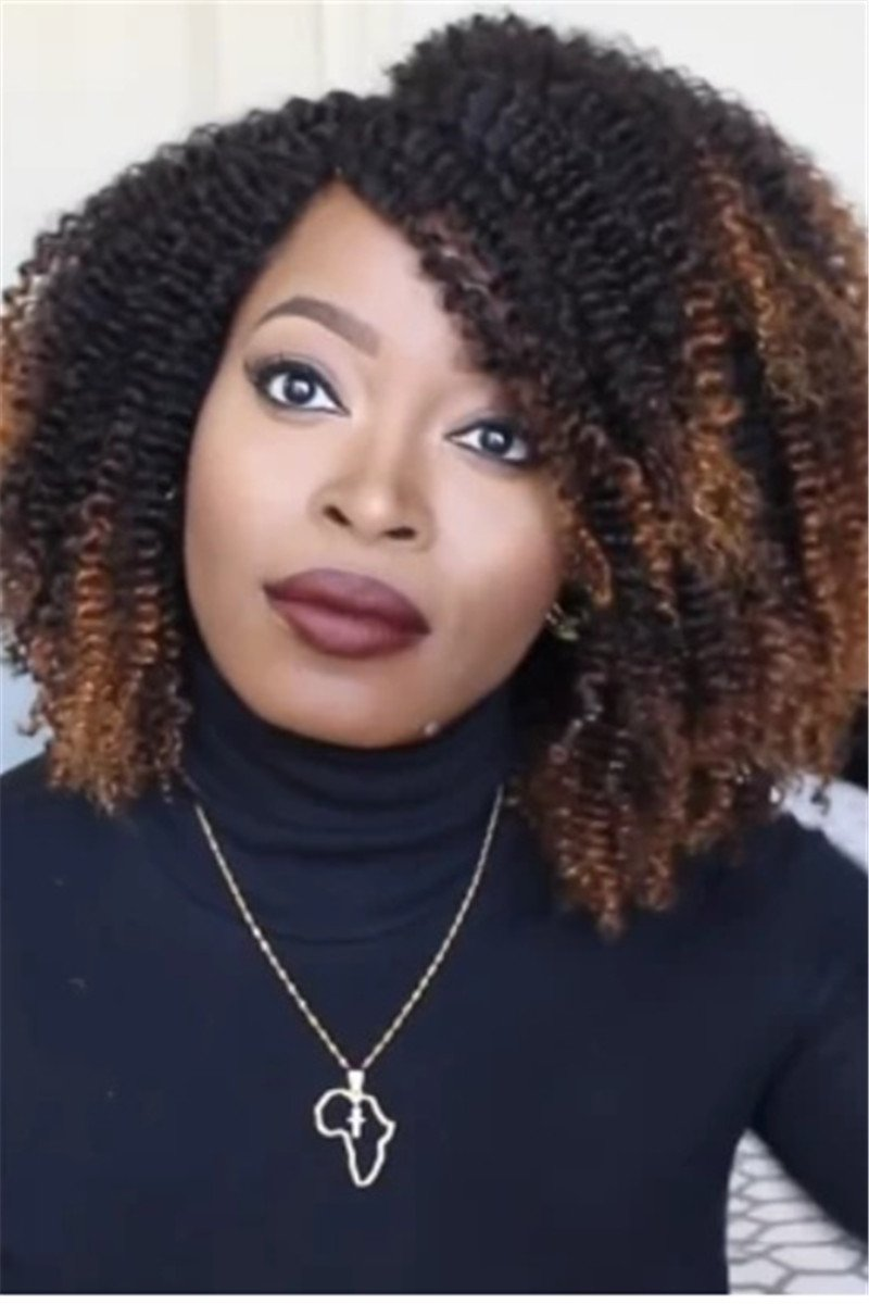 Color Changing Short Small Curly Wigs