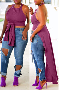 Plus Size Two Ways Wearing Top