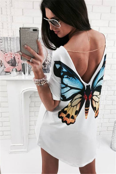 Butterfly or Cat T-Shirt Dress