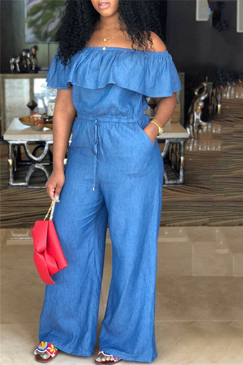 Off Shoulder Demi Jumpsuit