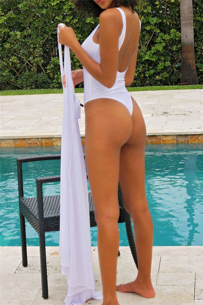 Backless Swimwear with Robe
