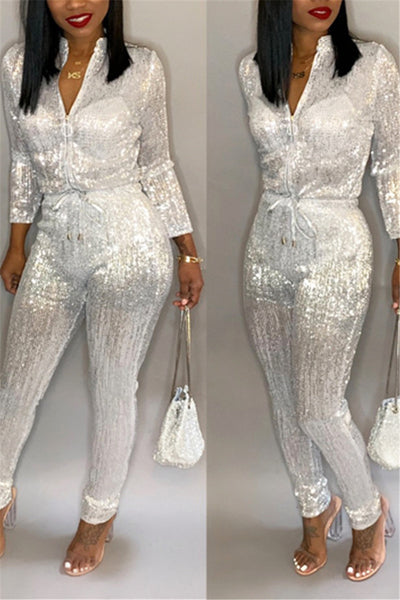Hot Stamping Smocked Jumpsuit
