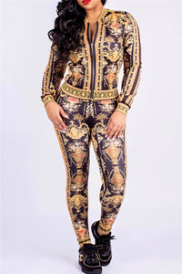 Printed Zipper Two PC Sets