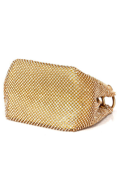 Metal Rhinestone Evening Clutch