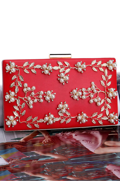 Pearl Flowers Evening Handbag