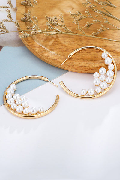 Pearl Gold Alloy Earring