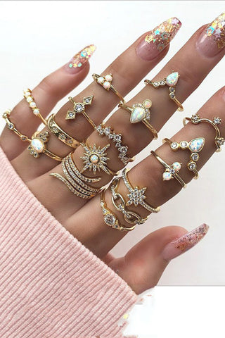 Trendy 17-piece Jewellery Ring