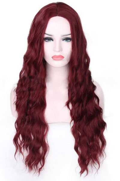 Long Curly Wine Hair Wigs