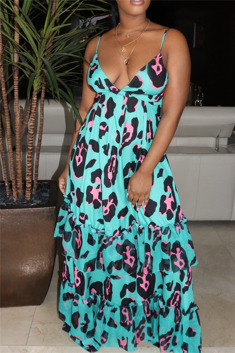 Printed Bandage Maxi Dress
