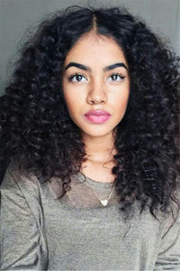 Black Short Small Curly Wigs