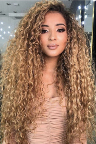 Color Changing Long Curly Wigs