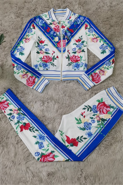 Floral Printed Two PC Sets
