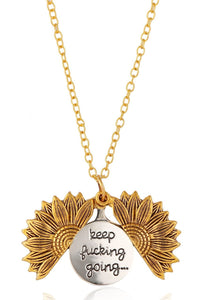 Sunflower Letter Foldable Necklace