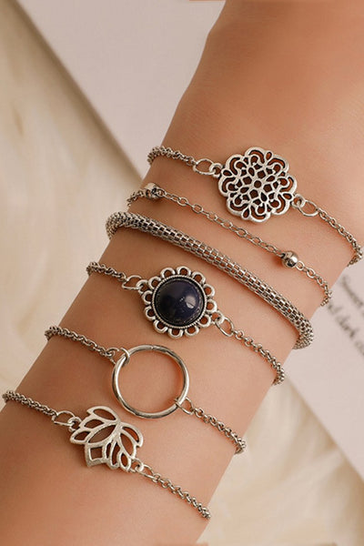 Chic Hollow Out 6-piece Bracelet