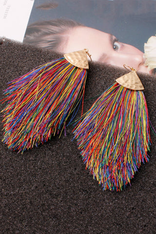 5-piece Tassel Splicing Earring