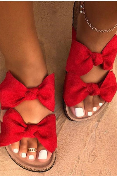 Bowknot Open Toe Beach Slippers