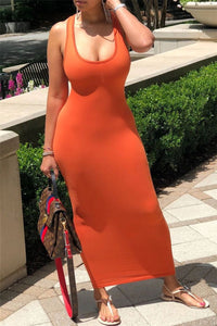 Back Bandage Cami Maxi Dress