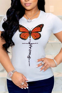 Sequin Butterfly Rhinestone Top