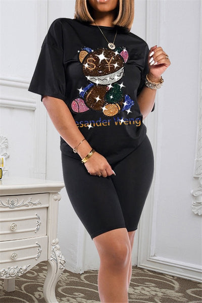 Cartoon Rhinestone Two PC Sets