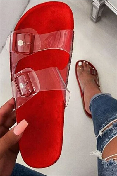 Transparent Crystal Beach Slippers