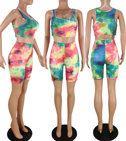 Tie Dye Tank& Shorts Sets